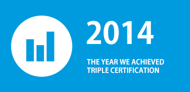 2014 The year we achieved Triple Certification